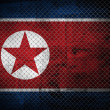 North Korea flag — 图库照片