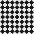 Black and white checkered floor - Stock Photo