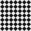 Stock Photo: black and white checkered floor