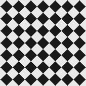 Black and white checkered floor — Stock Photo