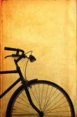 Eski vintage bisiklet — Stok fotoğraf