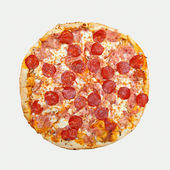 Pepperoni pizza cut out — Stock Photo