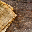 Jute and old wood — Stock Photo