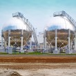 Oil storage tanks - Foto de Stock
