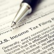 Stock Photo: US tax form 1042