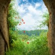 End of the tunnel - Stockfoto
