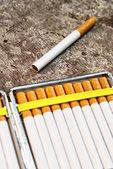 Cigarettes in cigarette case — Stock Photo