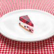 Cheese cake on white plate — Stock Photo