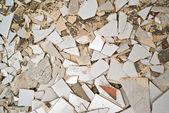 Breaking ceramic tiles — Stock Photo