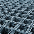 Stock Photo: Reinforcing steel mesh