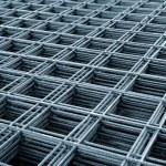 Reinforcing steel mesh — Stock Photo