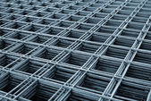 Reinforcing steel mesh — Stock Photo