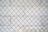 Metal grid fence — Stock Photo