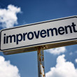 Improvement street sign — Stock Photo