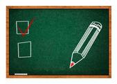 黒板で選択の概念 — ストック写真