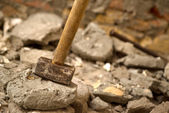 Hammer for concrete — Stock Photo