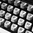 Stock Photo: Vintage typewriter detail