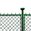Metal grid fence — Stock Photo