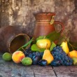 Stock Photo: Various fresh fruit