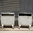 Stock Photo: Metal garbage containers