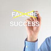 Fehlschlag oder Erfolg — Stockfoto