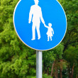 Pedestrian walkway sign — Stock Photo