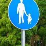 Pedestrian walkway sign — Stock Photo