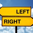 Left or right, opposite signs — Stock Photo