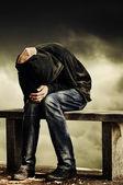 Człowiek z problemami — Zdjęcie stockowe