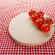 Red cherry tomatoes — Stock fotografie