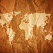 World map on wood background — Stock Photo