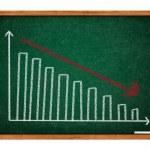 Graph auf grüne Tafel — Stockfoto