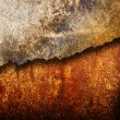 Stock Photo: Cracked rusty metal texture