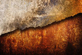 Cracked rusty metal texture — 图库照片