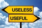Useless or useful — Stock Photo