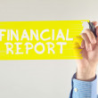 Financial report — Stock Photo