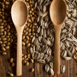 Wood spoons and grains — Stock Photo #30552551