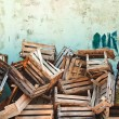 Wooden crates — Stock Photo