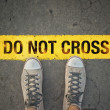 Do not cross the line — Stock Photo