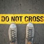Do not cross the line — Stock Photo #31118685