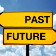 Past or future, opposite signs — Stock Photo