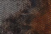 Zkorodované kovové mřížky — Stock fotografie