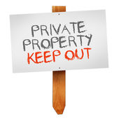 Private property, keep out — Stock Photo