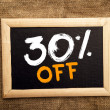 Thirty percent off — Stockfoto