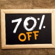 Stock Photo: Seventy percent off