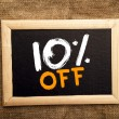 Ten percent off — Stock Photo