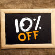 Stock Photo: Ten percent off