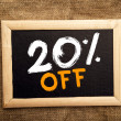 Stock Photo: Twenty percent off