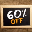 Sixty percent off — Foto Stock