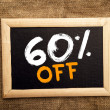 Sixty percent off — Stockfoto